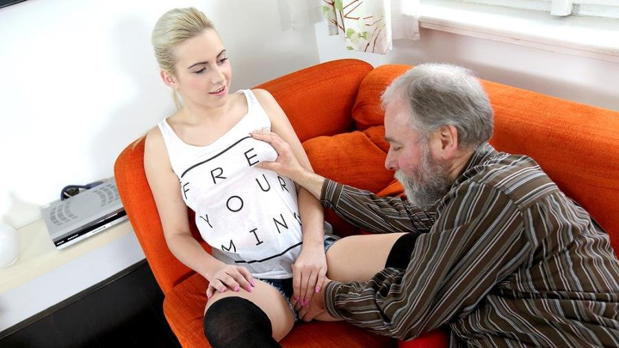 OldGoesYoung.com - Olga - Olga and old goes young guy fuck in storage unit [HD 720p / Old / Young / 2015]