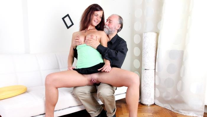 OldGoesYoung.com - Alyona - Russian girl having sex with an old bearded man her boyfriend's uncle [FullHD 1080p / Old / Young / 2015]