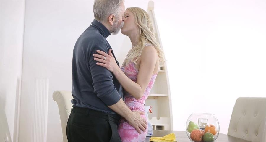 OldGoesYoung.com - Polina - Polina and old goes young first timer satisfy each other's carnal needs [HD 720p / Old / Teen / 2015]