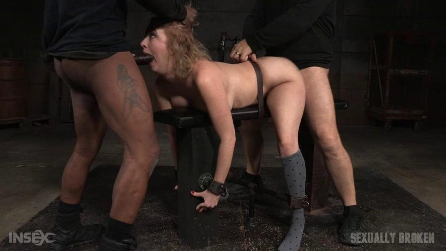 SexuallyBroken.com - Cherry Torn, Matt Williams, Jack Hammer - All natural sex bomb Cherry Torn bound doggystyle and facefucked by BBC with merciless fucking! [HD 720p / BDSM / USA / 2015]