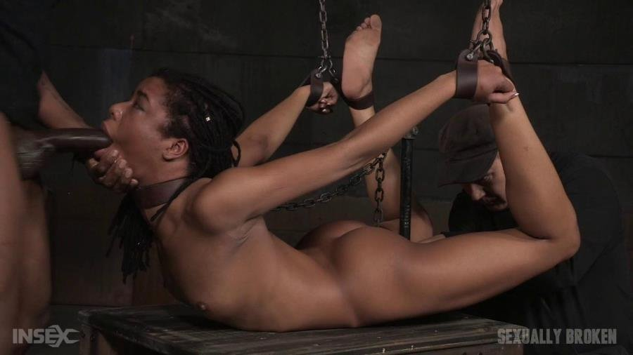 SexuallyBroken.com - Kira Noir, Matt Williams, Maestro, Jack Hammer - Toned beauty Kira Noir cranked up in strict chains and roughly fucked into drooling destruction! [HD 720p / BDSM / WDBC / 2015]