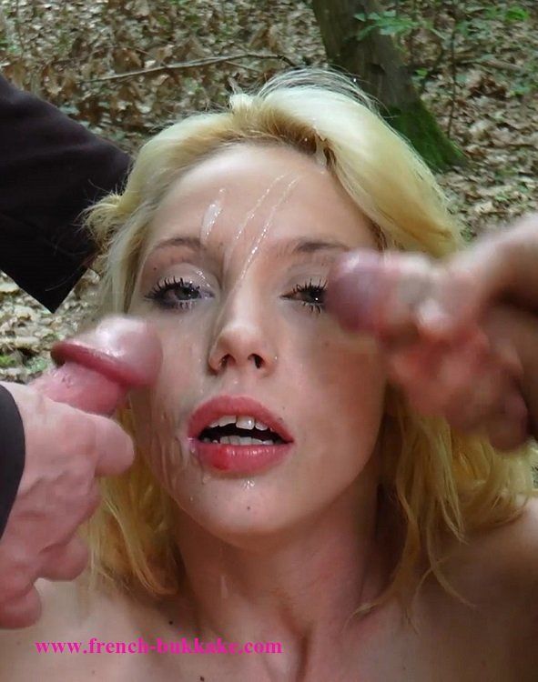 French-Bukkake.com - Kimber - Threesome [HD 720p / Bukkake / Blonde / 2015]