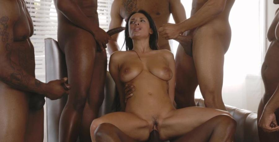 Colette.com - Anissa Kate - Anissa Gets Her Interracial Christmas Gang Bang Wish [FullHD 1080p / Gana Bang / Milf / 2015]