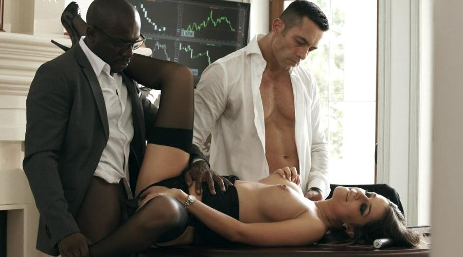 France - Cara St Germain - Cara, a Devoted Secretary Banged by Her Bosses [FullHD 1080p / Threesome / All Sex / 2015]