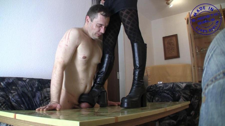 Dangerous-girls.com - Lady Chantal - Cock-ball-crush [HD 720p / Germany / Femdom / 2015]
