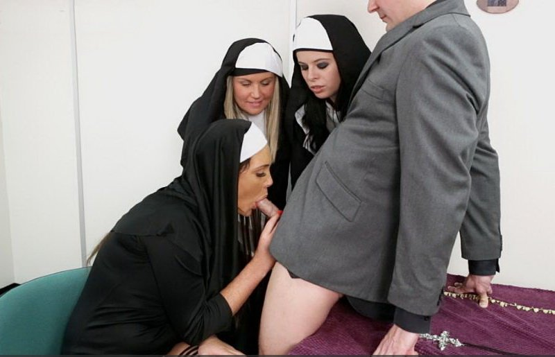 PureCFNM.com - Emma Leigh, Adel Cherry, Tiffany Naylor - Welcome To The Convent [SD / Cumshot / Oral / 2013]