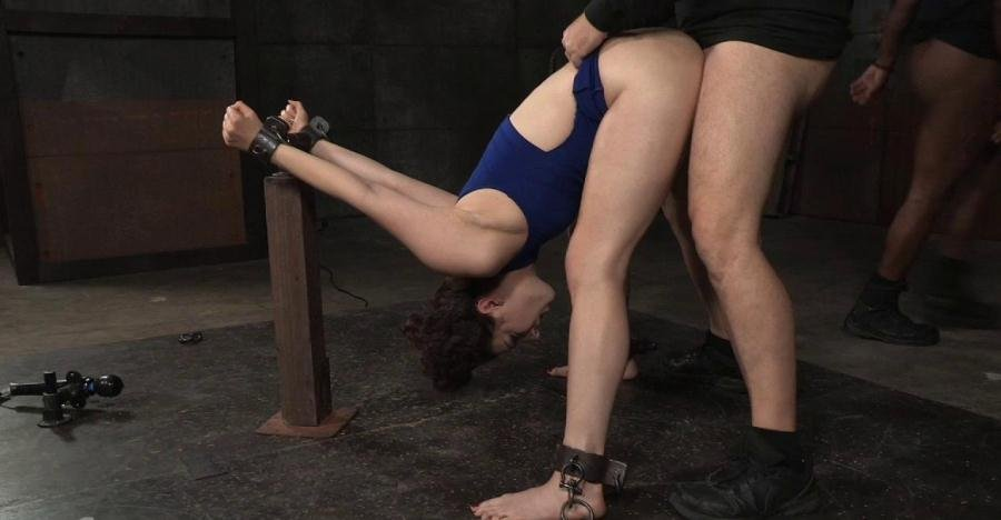 SexuallyBroken.com - Endza Adair - Wholesome starlet Endza Adair bound and used without mercy in metal bondage, BBC pounding! [HD 720p / BDSM / Bondage / 2016]