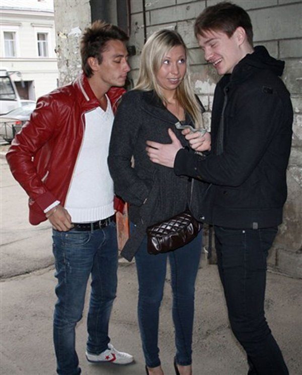 HardFuckGirls.com/WTFPass.com - Suzanna - Blonde angel enjoys pick up sex with two guys [SD / Hardcore / Group / 2012]