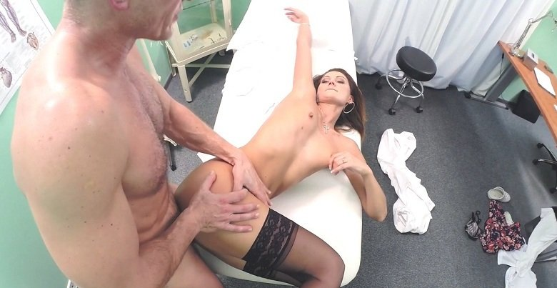 FakeHub.com - Emmi - Dose of Double Cum Cures Tummy Ache [HD 720p / Hardcore / Clinic / 2016]