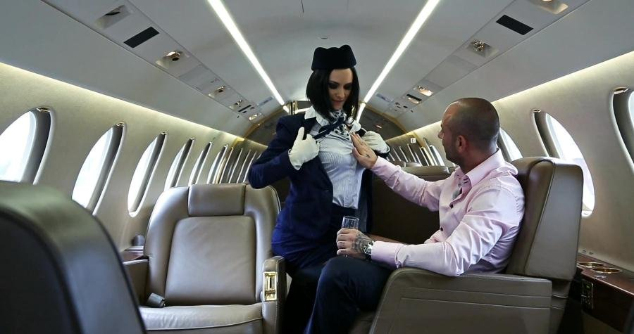 Anal - Claire Castel - Air hostess claire castel care for her passenger [FullHD 1080p / Hardcore / 2016]