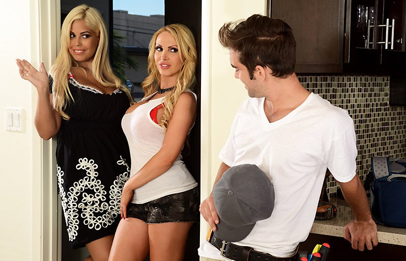 CFNM.com/Brazzers.com - Nikki Benz, Bridgette B - Professional Perv [HD / Big Titts / Group Sex / USA / 2014]