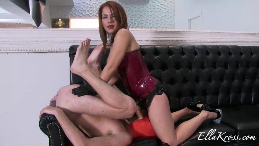EllaKross.com - Ella Kross - No mercy strap-on [HD 720p / FemDom / Strap-on / 2015]