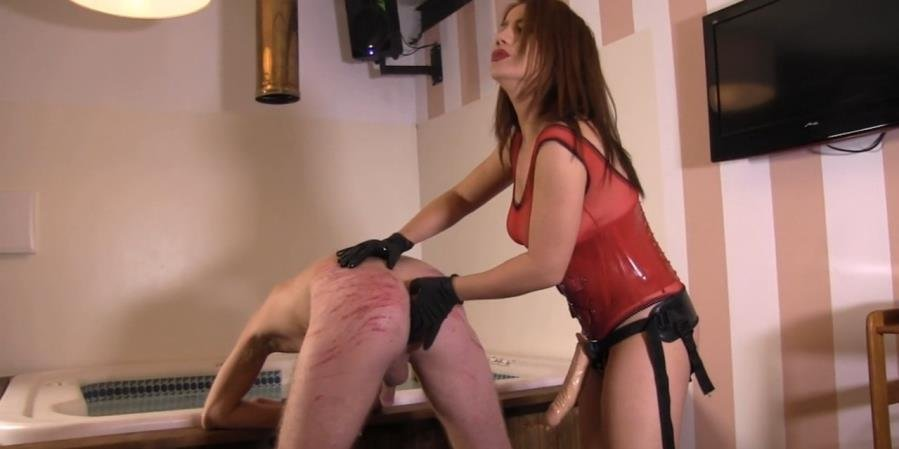 EllaKross.com - Ella Kross - Abusing My Slave with a Strap-On! [HD 720p / FemDom / Strap-on / 2015]