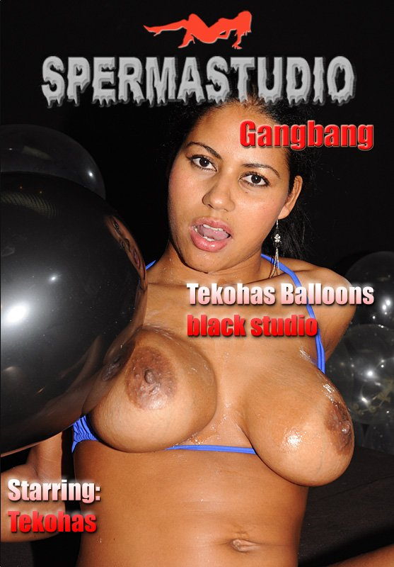 Sperma-Studio.com - Tekohas - Tekohas Balloons in black studio [HD 720p / Bukkake / Germany / 2012]