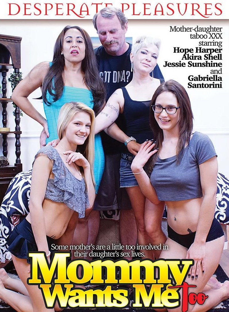 Desperate Pleasures - Hope Harper, Akira Shell, Jessie Sunshine, Gabriella Santorini - Mommie Wants Me Too [WEBRip/SD  / All Sex / 18+ / 2016]