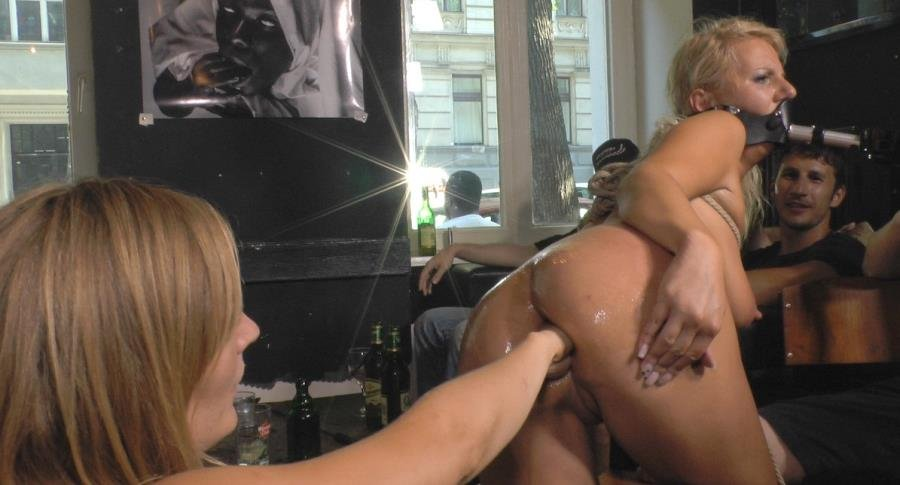 PublicDisgrace.com - Mona Wales , Conny Dachs and Luci Angel - Horny Blonde Anal Slut Disgraced for Berlin Tourists [SiteRip / BDSM / Fisting / 2016]