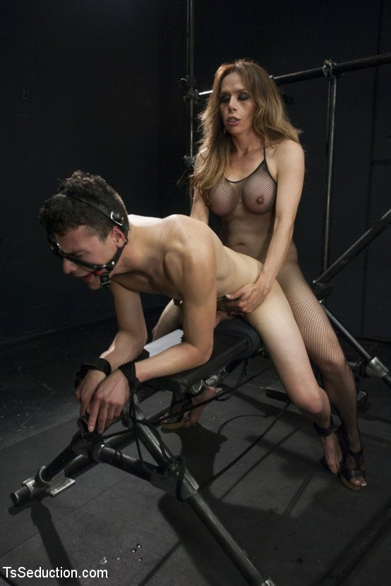 TsSeduction.com - Sofia Sanders - Connected And From Fucking In A Bum [SD 540P / Transsexual / Anal / Bondage / 2014]