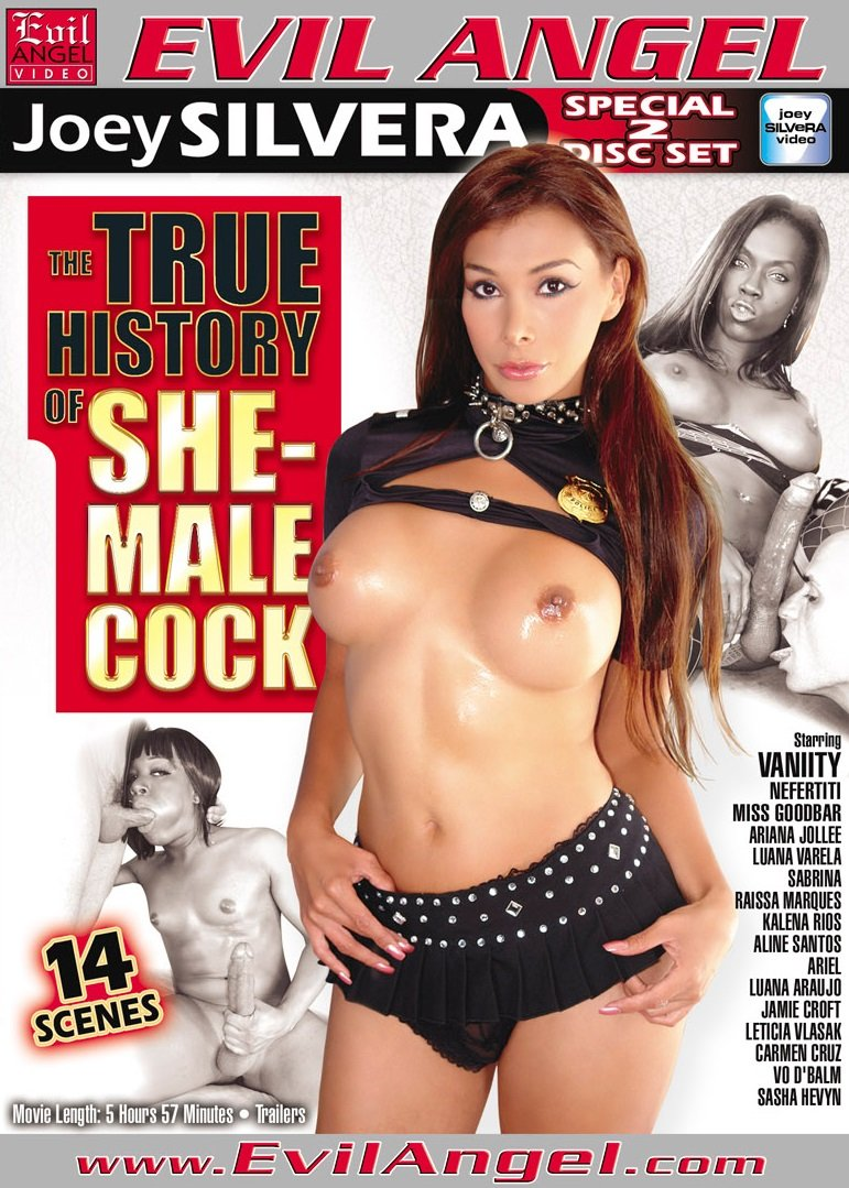 Evil Angel - Sabrina, Jamie Croft, Miss Goodbar - The True History Of SheMale Cock [DVDRip  / Transsexual / Anal / 2012]