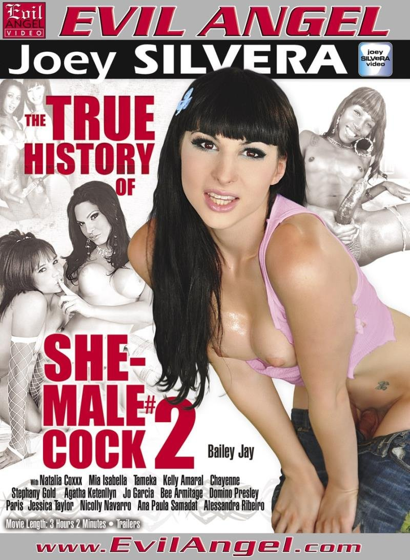 Evil Angel - Bailey Jay, Natalia Coxxx, Mia Isabella, Tameka - The True History Of She-Male Cock 2 [DVDRip  / Transsexual / Big cock / Anal / 2013]