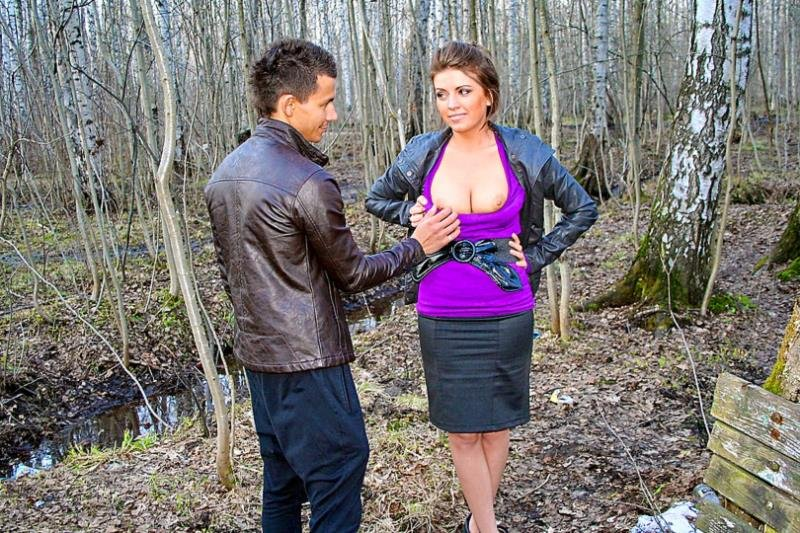 MyPickupGirls.com - Nastya - In the park with bosomy stranger [HD / Gonzo / Teens / 2009]