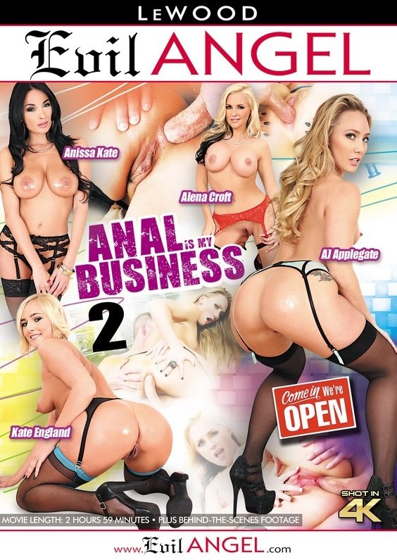Evil Angel - AJ Applegate, Kate England, Anissa Kate, Alena Croft - Anal Is My Business 2 [WEBRip/SD 540p / Gonzo / Anal / Hardcore / 2016]