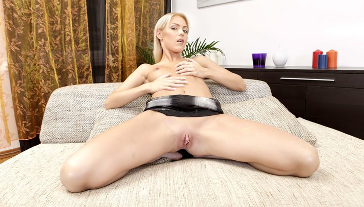 TeenMegaWorld.net - Chiara - Tight Blonde Taken Anally [FullHD 1080p / Sex Toys / 2016]