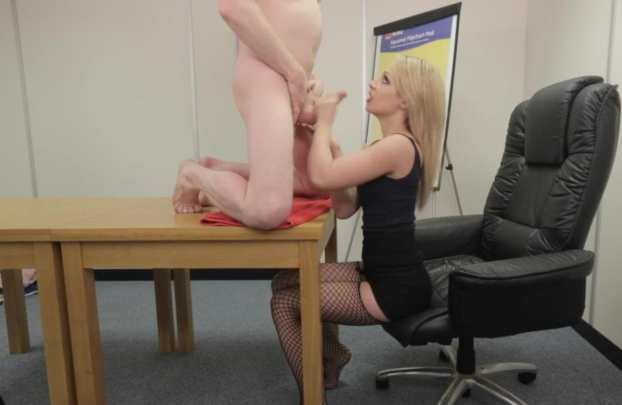 AmateurCFNM.com - Chessie Kay - Secretary Footjob [FullHD 1080p / Amateur / Blonde / 2015]