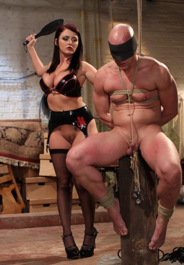 Kink.com/DivineBitches.com - Chad Rock and Sophie Dee - Mistress Sophie Dee owns your cock! [HD / Femdom / BDSM / Bondage / 2011]
