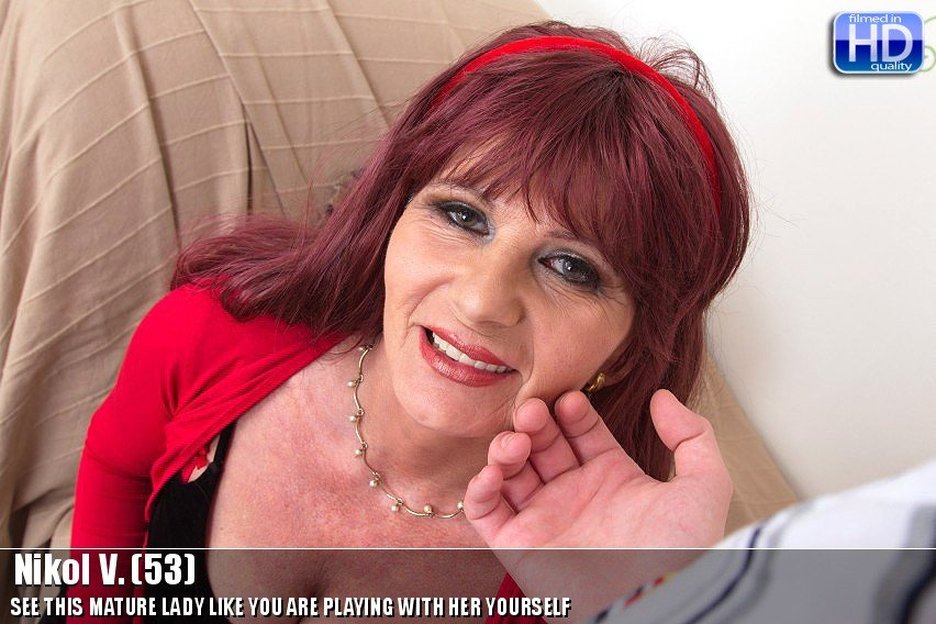 Mature.nl - Nikol V. (53) - Mat-prof POV 003 [HD 720p / Mature / Big Tits / 2014]