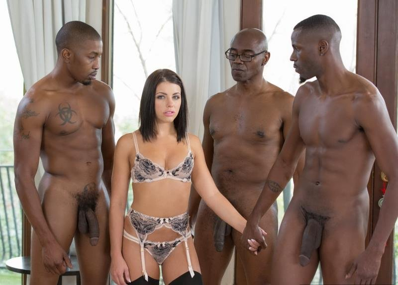 Blacked.com - Adriana Chechik - Brunette Babe Takes Trio of BBCs [SD / Anal / DP / 2016]