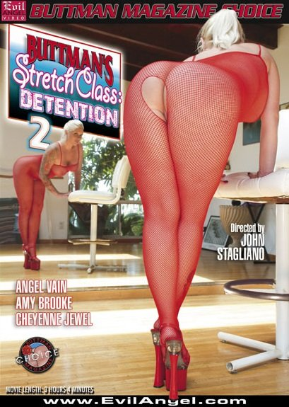 Evil Angel - Amy Brooke, Angel Vain , Cheyenne Jewel - Buttmans Stretch Class: Detention 2 [DVDRip 320p / Gonzo / Anal / Dildos / 2011]