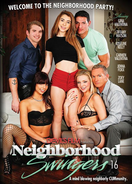 Devils Films - Carmen Valentina, Eric Masterson, Gina Valentina, Jenna Foxx, Joseline Kelly - Neighborhood Swingers 16 [WEBRip/SD 540p / Swingers, Gonzo, Hardcore, All Sex / 2016]