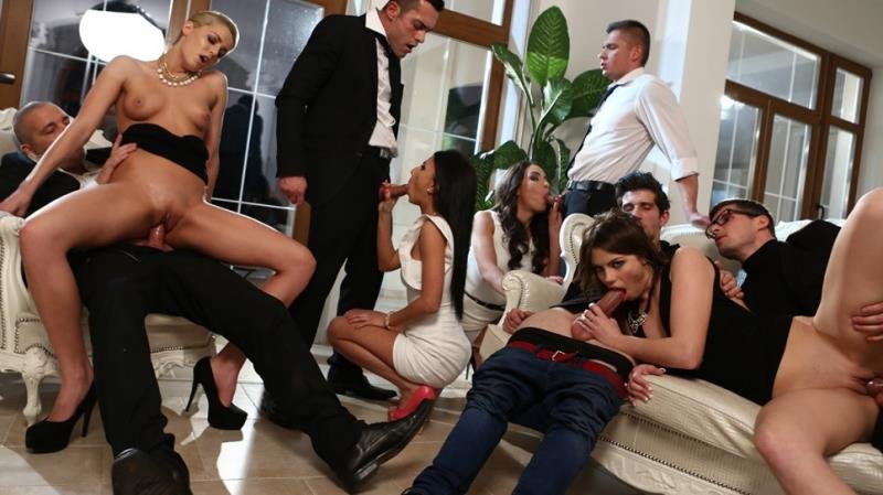 DorcelClub.com/Dorcel.com - Manon Martin, Christen Courtney - First orgy and hard DP for the young Manon [FullHD / Anal / DP / Orgy / 2015]