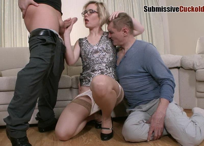 Submissivecuckolds.com - Mistress Dayana - Wife With Glasses Fuck In Ass [HD / Femdom / Cuckold / 2016]