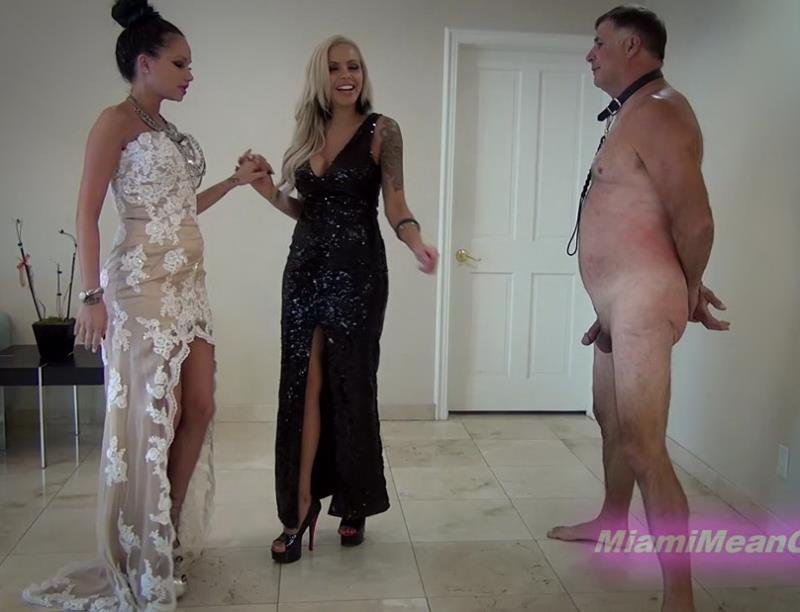 MiamiMeanGirls.com/Clips4sale.com - Goddess Raven Bay, Goddess Nina Elle - The Elegant Ballbusting [FullHD / Mistress / Female Domination / 2016]