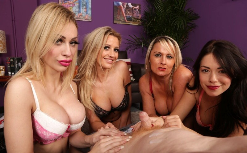 PureCFNM.com - Angel Scott, Ava Dalush, Chessie Kay, Sienna Day - Which Underwear [FullHD / Big Tits / Femdom / 2015]