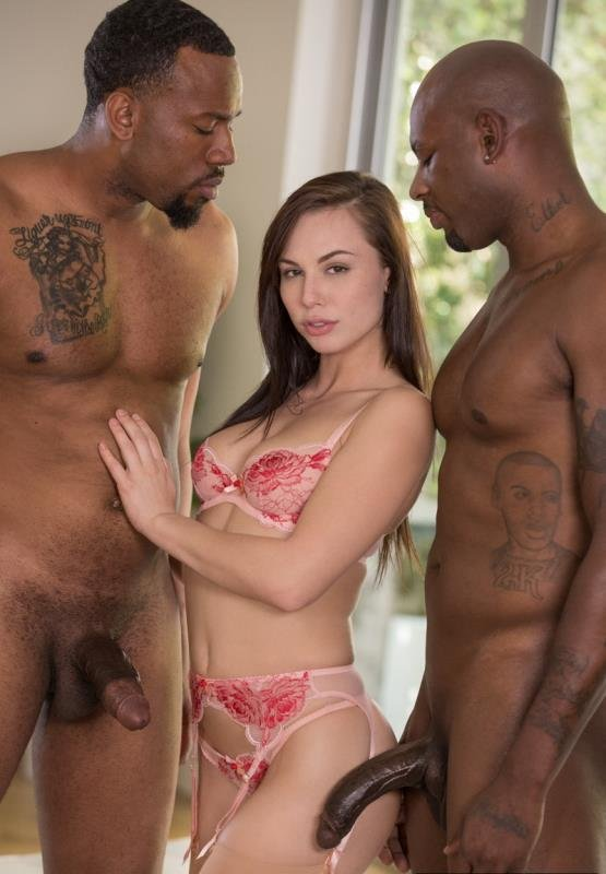 Blacked.com - Aidra Fox - Beautiful Student Takes Two BBCs [FullHD / Threesome / MMF / 2016]