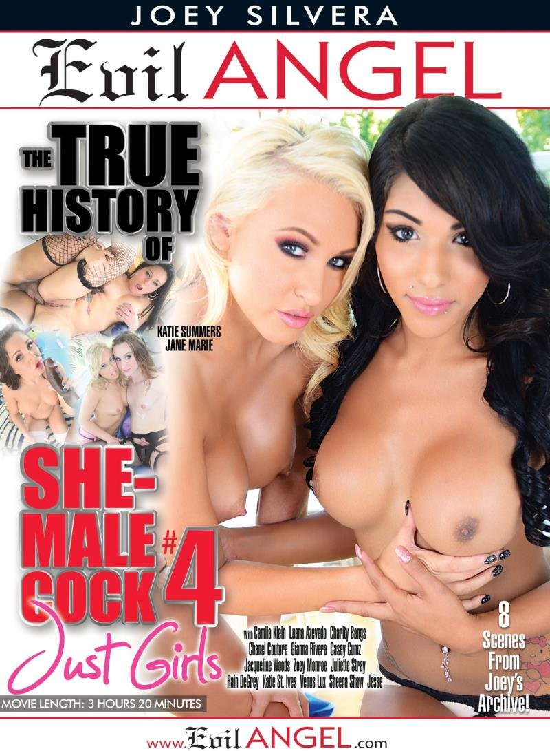 Evil Angel - Casey Cumz, Charity Bangs, Jacqueline Woods, Jesse, Katie St. Ives, Katie Summers - The True History Of She-Male Cock 4 [WEBRip/SD 540p / Transsexual / Gonzo / Anal / 2015]