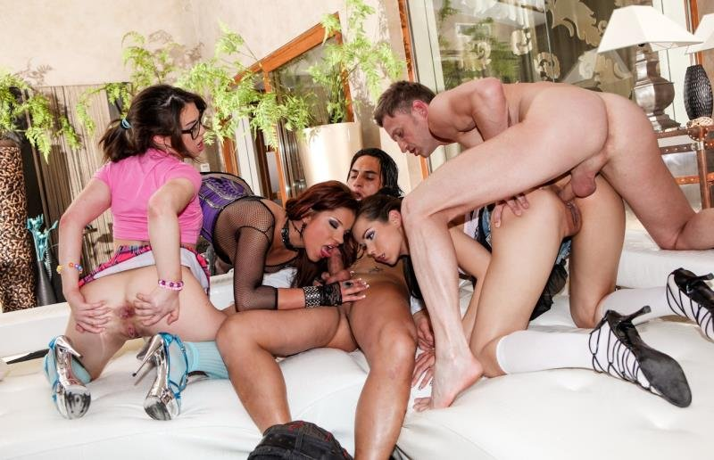 RoccoSiffredi.com - Angel Rivas, Ferrera Gomez, Tiffany Doll - Roccos World [SD / Anal / Group Sex / 2012]