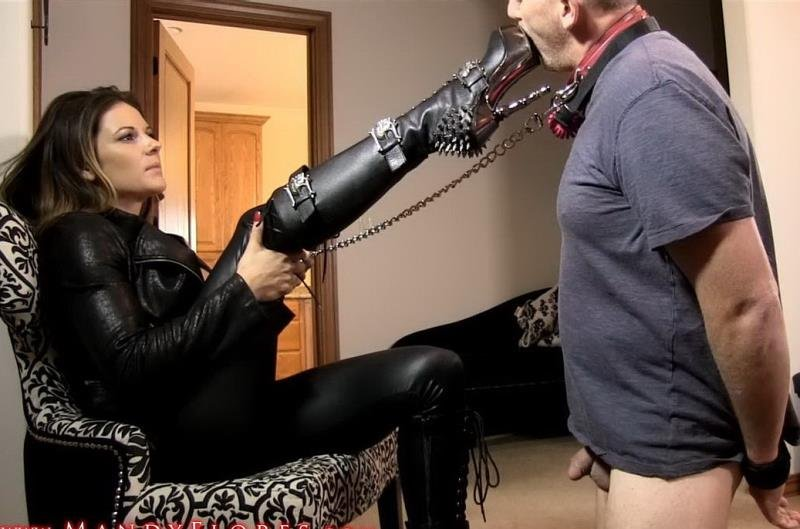 MandyFlores.com - Mandy Flores - Boot Bitch! [HD / Humiliation / Whipping / 2016]