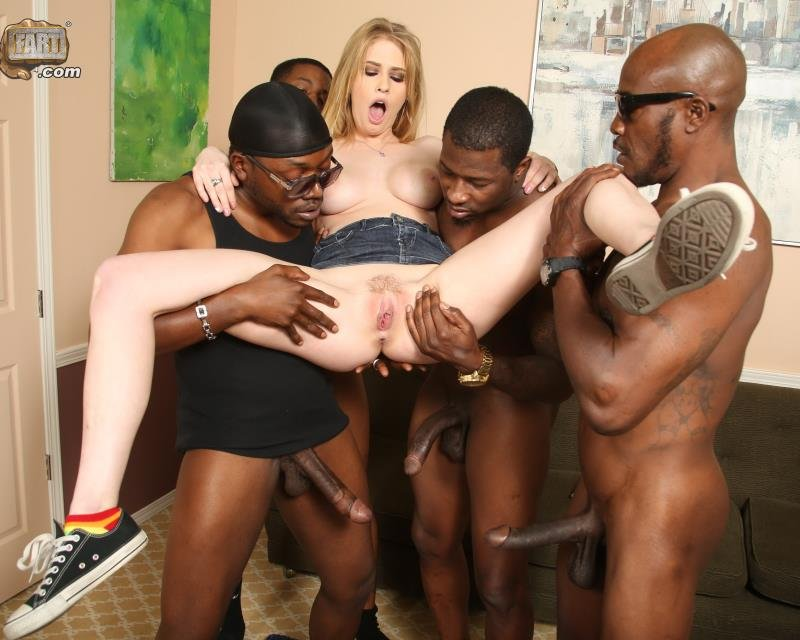 BlacksOnBlondes.com/DogFartNetwork.com - Allie James - Blacks ONondes [HD / GangBang / Big Tits / 2014]