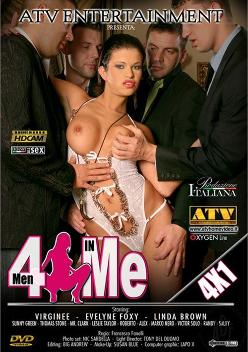 ATV Entertainment - Eveline Foxy, Virginee, Linda Brown - 4 Men In Me [DVDRip 384p / Gonzo / Anal / 2016]