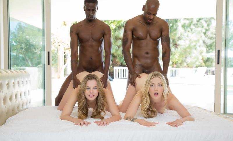 Blacked.com - Jillian Janson, Karla Kush - Interracial Foursome for Two Beautiful Blonde Girls [SD / Facial / Hardcore / 2015]