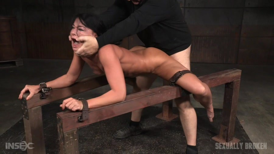 SexuallyBroken.com - London River - Flexible London River bound and split in half by giant cock with drooling massive orgasms! [HD 720p / BDSM / Domination / 2016]