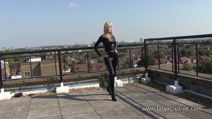 Latexclusive.com - Christiana - Black Latex Catsuit [HD 720p / Latex / Fetish / 2013]