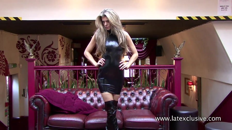 Latexclusive.com - Arianna - Black Latex Dress [HD 720p / Latex / Fetish / 2013]