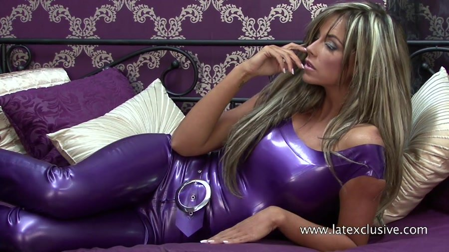 Latexclusive.com - Jodie - Purple Latex Top [HD 720p / Ruber / Solo / 2012]