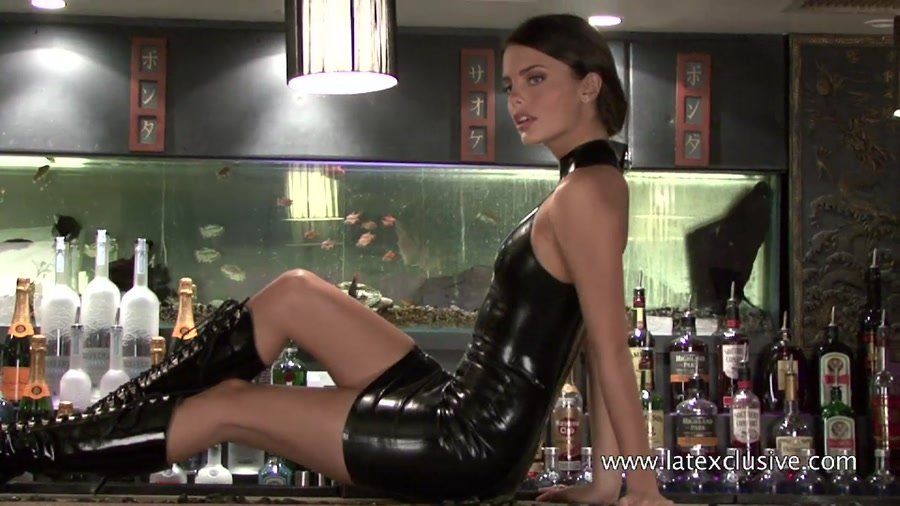 Latexclusive.com - Lara - Black Latex Sleeveless Dress [HD 720p / Latex / Solo / 2012]