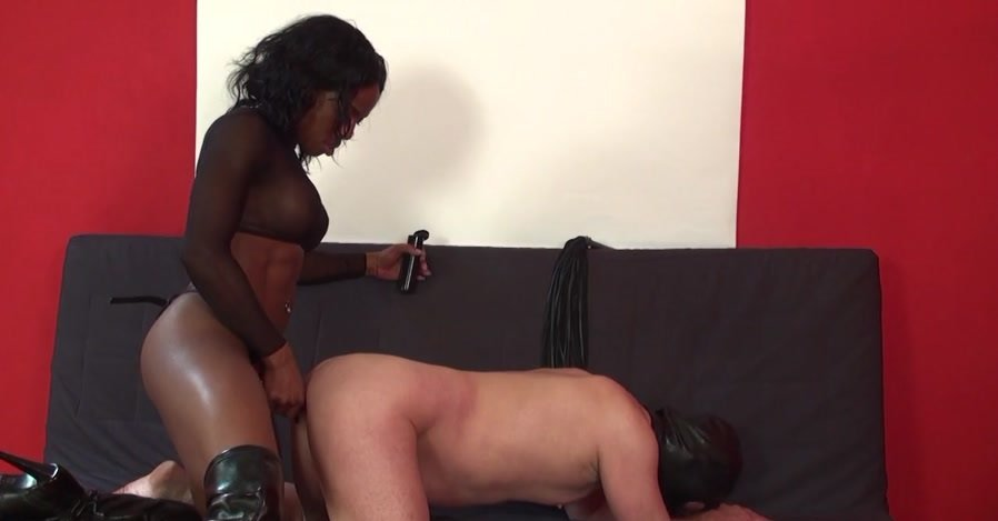 KinkyMistresses.com - Kiana - Mistress Kiana The Red Strap-on [HD 720p / Femdom / Strap-on / 2014]