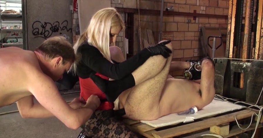 KinkyMistresses.com - Natalie Black - The Bisexual Anal Slave [HD 720p / Femdom / Domination / 2014]